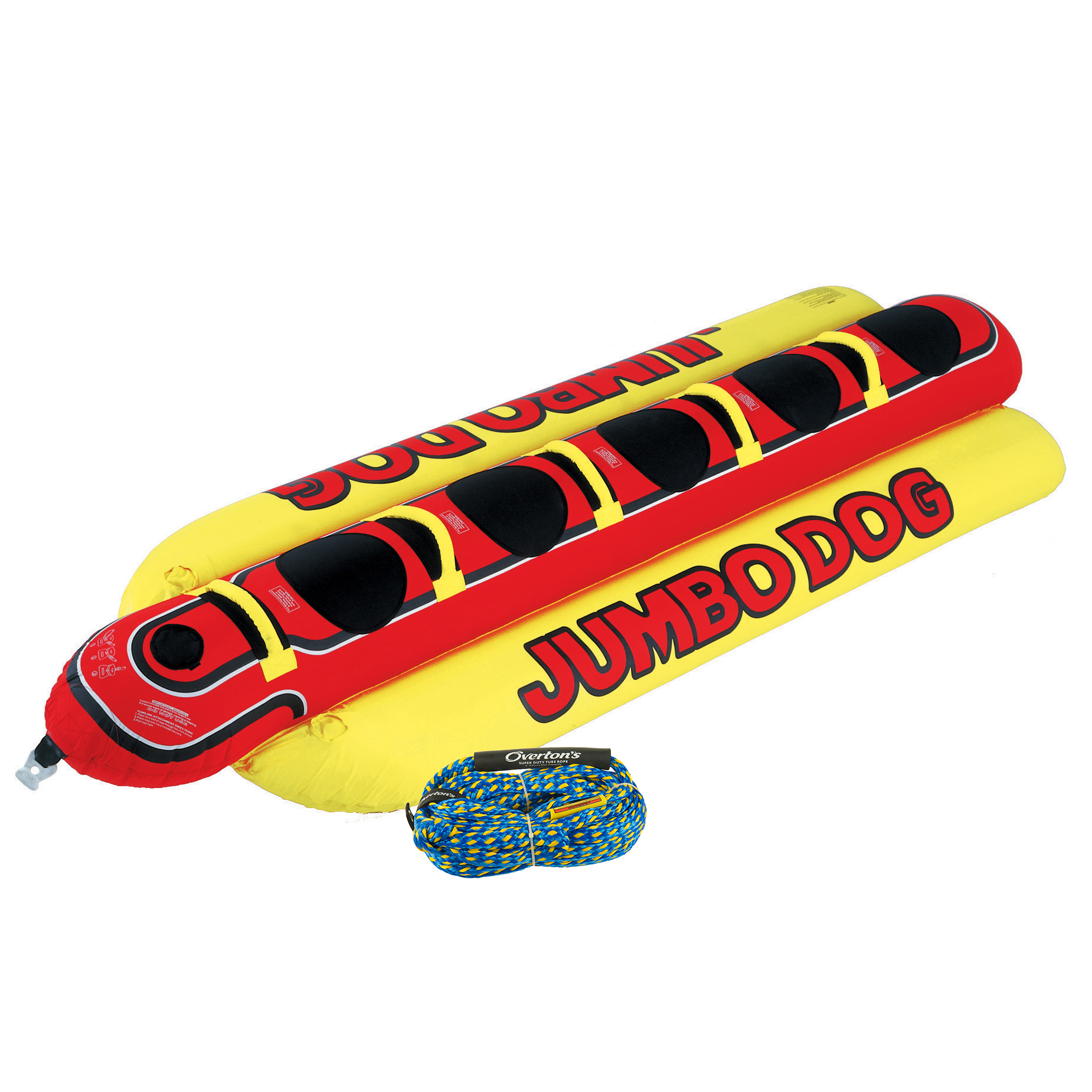Airhead Jumbo Dog 5-Person Towable Package With Rope