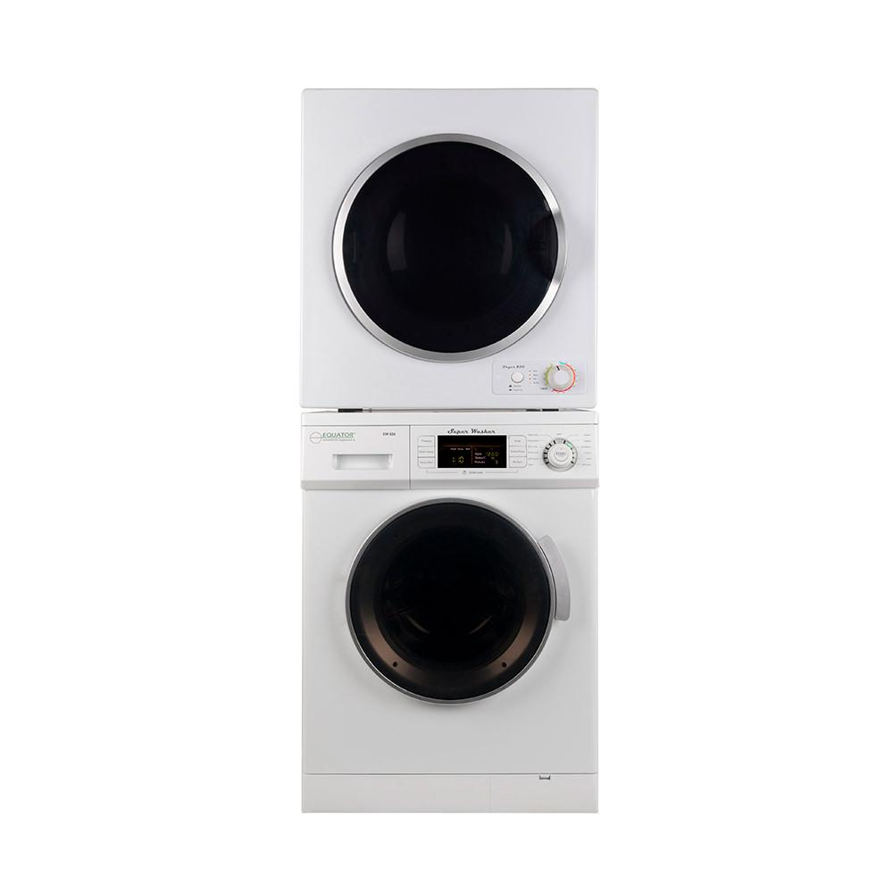 Equator Stackable Washer Dryer Set EW 824 + ED 850 photo