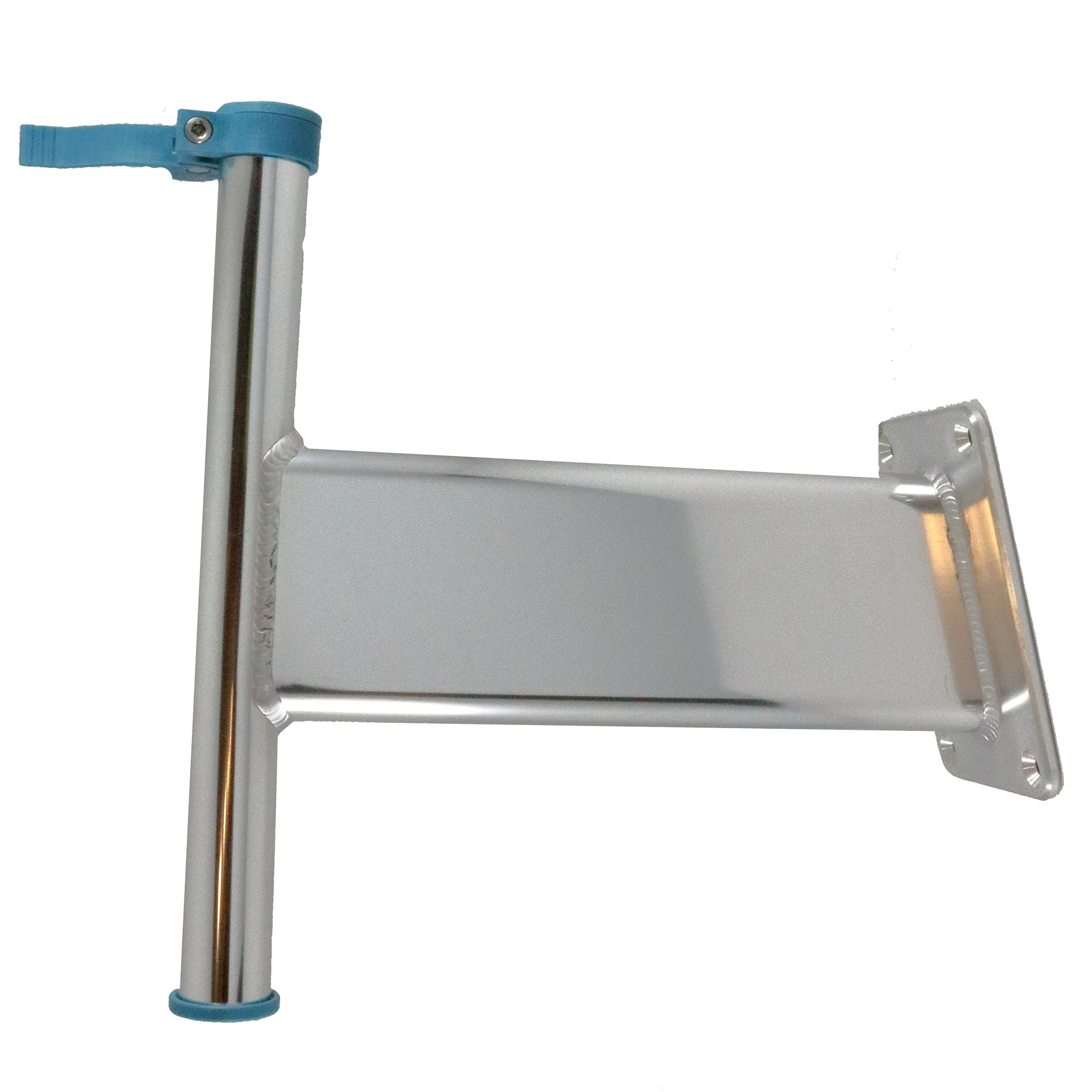 King Pin Transom-Mount Bracket, Clear Anodized Finish