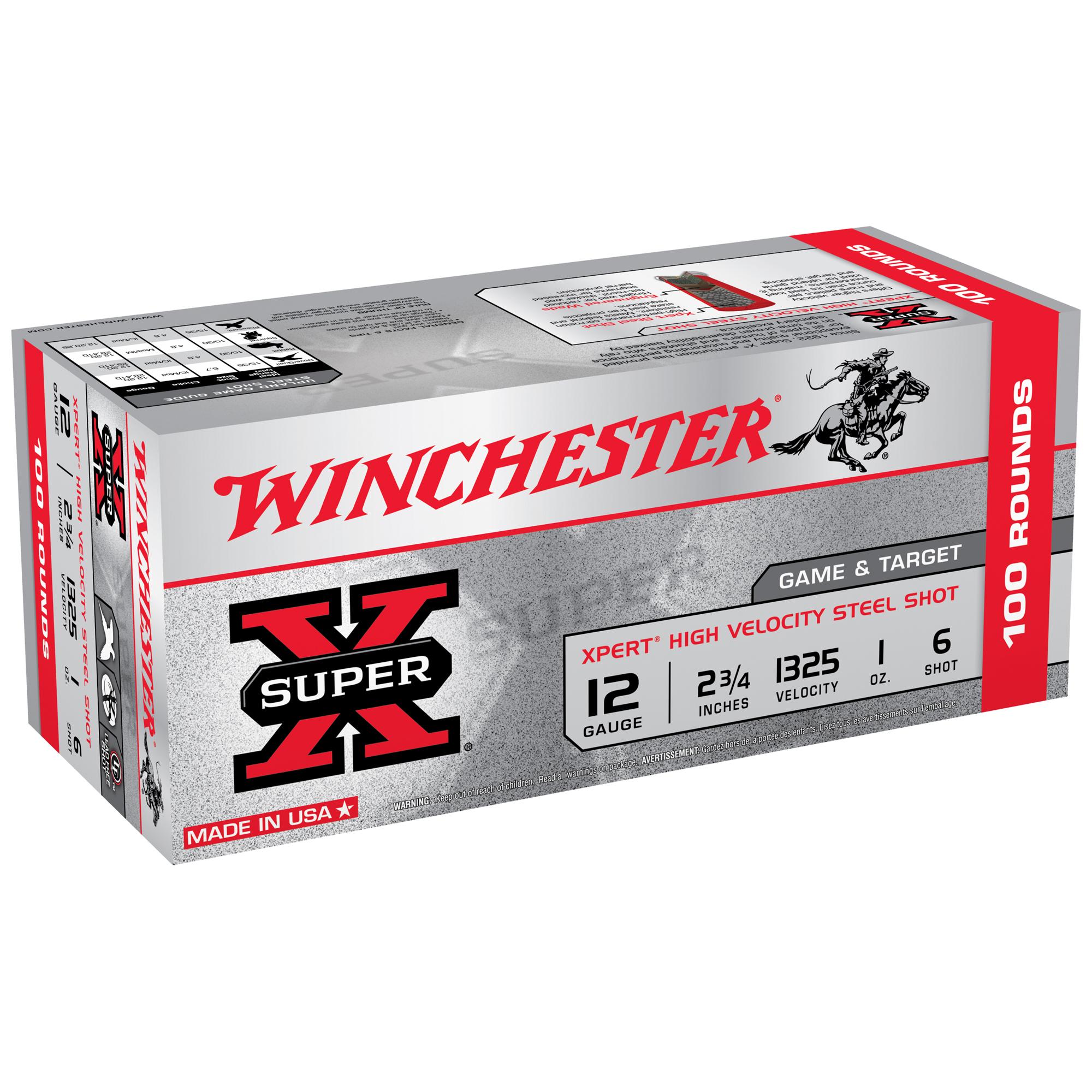 "Winchester Xpert Steel Game & Target Loads, 12-ga., 2-3/4"", 1-oz., #6"