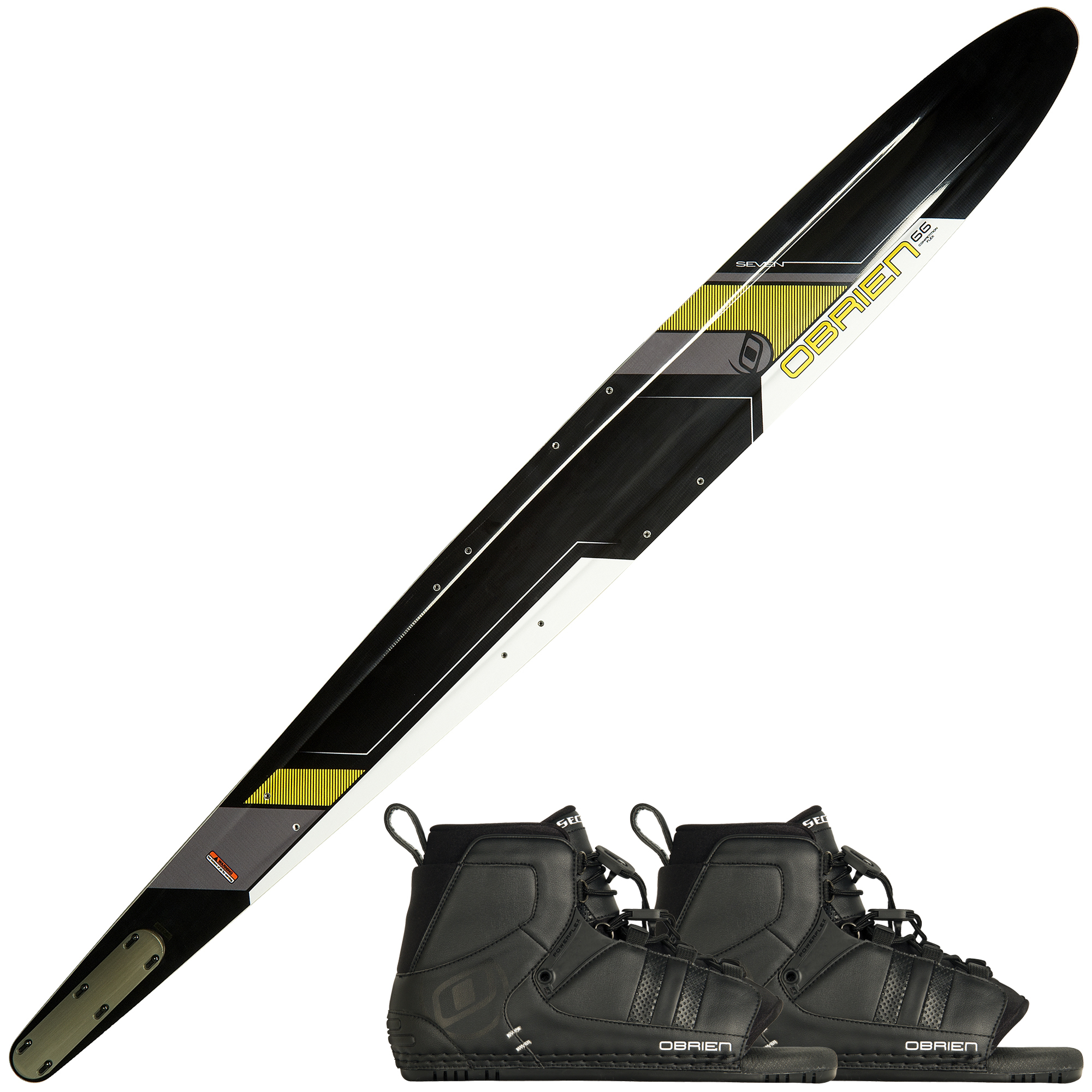 O'Brien Seven Slalom Waterski With Double Sector Bindings