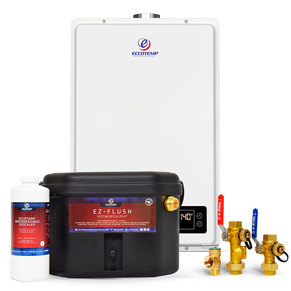 Eccotemp 20HI Indoor 6.0 GPM Natural Gas Tankless Water Heater Service Kit Bundle