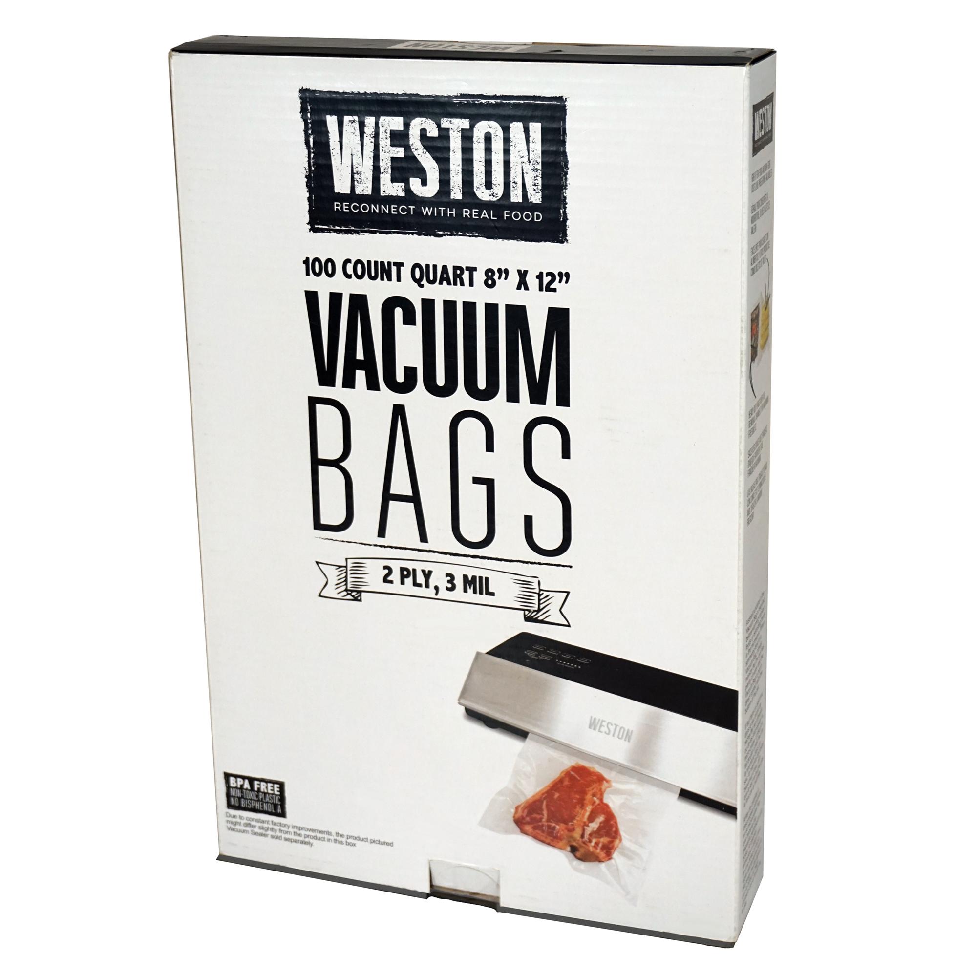 Weston Quart Pre-Cut Vacuum Sealer Bags, 100-Pack photo