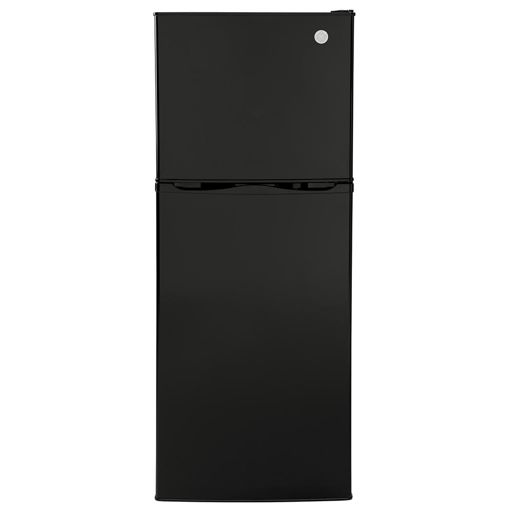 GE 9.8 Cu. Ft. 12V DC Power Top-Freezer Refrigerator, Black photo