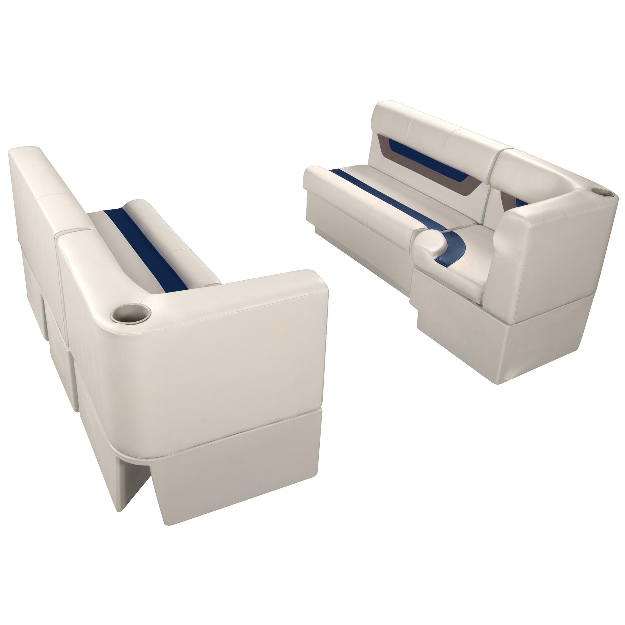 "Designer Pontoon Furniture - 61"" Front Seat Package, Platinum/Midnight/Mocha"