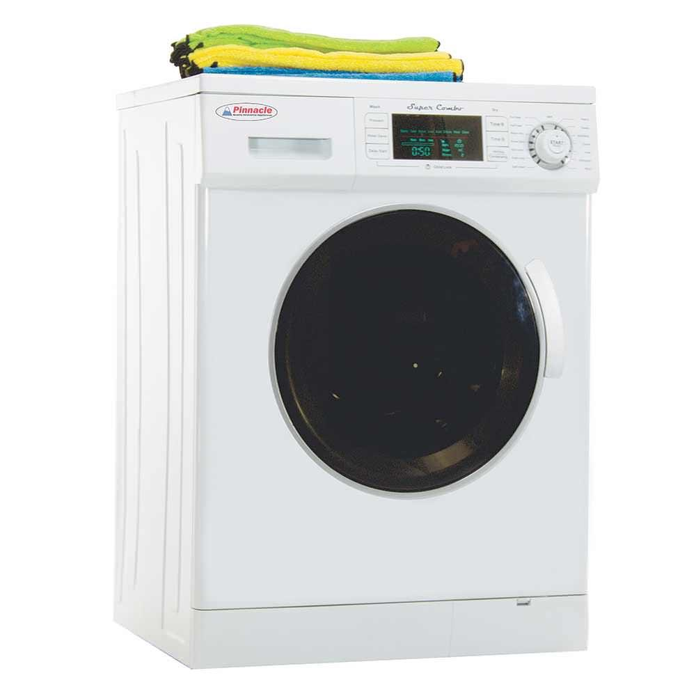 Pinnacle Super Combo Washer/Dryer 4400 with Automatic Water Level and Sensor Dry, White photo