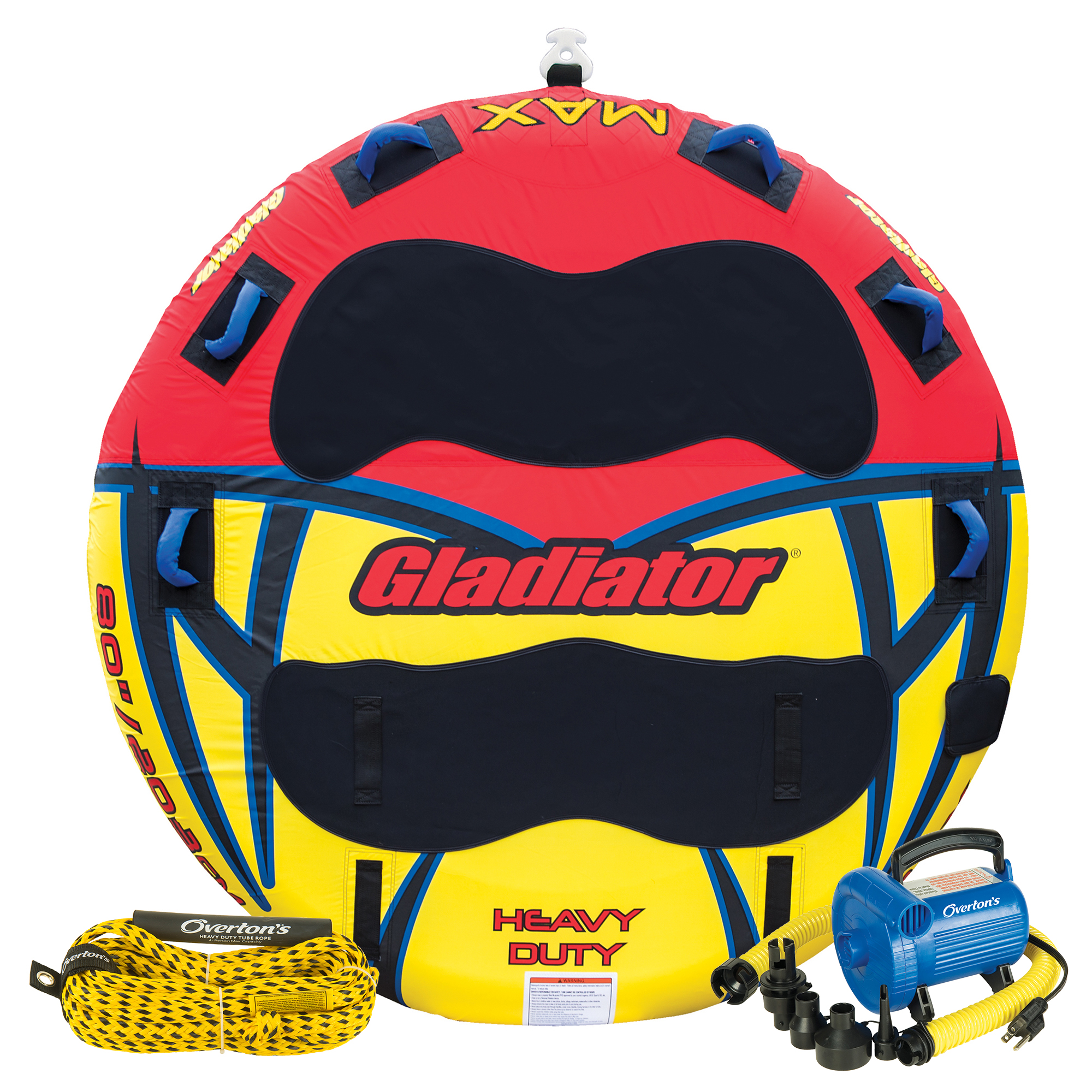 Gladiator Max 3-Rider Deck Rider Towable Tube Package